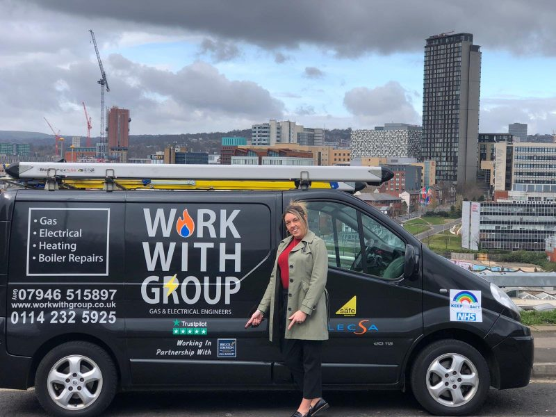 Sandie with Work With Group Van
